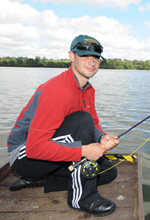 A soldier fishing at Ravensthorpe Reservoir