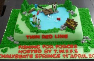 Thin Red Line Cake